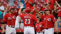 Reds win in a row . 4 In A Row, Reds Baseball, The 4, Sports, Fashion, Hs Sports, Moda, Fashion Styles, Sport