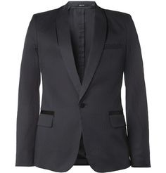Maison Martin Margiela Slim-Fit Shadow-Effect Tuxedo Blazer | MR PORTER