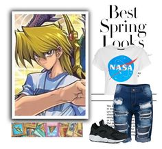 """Yu Gi Oh: Joey"" by laurablima-1 ❤ liked on Polyvore featuring H&M, Ÿù, NIKE, men's fashion and menswear"
