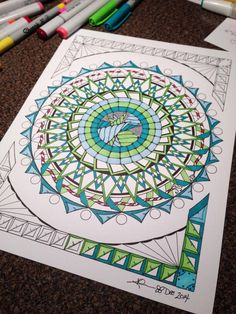 Coloring page from an original drawing by KellysInkCreations