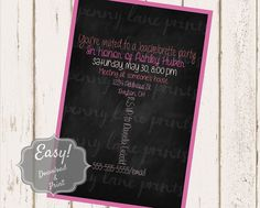 Custom Bachelorette Party Invitation Digital Download by PLPrints