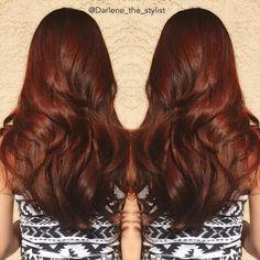 dark copper brown hair
