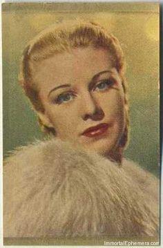 Ginger Rogers - 1936 – 1937 Danmarks Film-Serie II Movie Star Trading Card