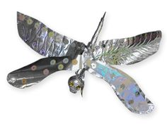 Poly Balls And Embossing Foil Are All That's Needed To Make A Dragonfly.