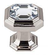 "TOP-TK390PN | Top Knobs Chareau 1-1/8"" (29mm) Crystal Cabinet Knob (Polished Nickel) | thehardwarehut.com"