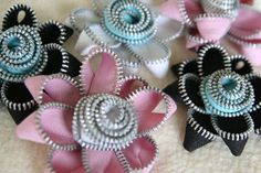 another zipper flower tutorial.....April 21, 2011 blog entry