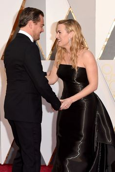 12 Photos of Leonardo DiCaprio and Kate Winslet at the Oscars That Will Ruin You Kate and Leo, Rose and Jack ❤