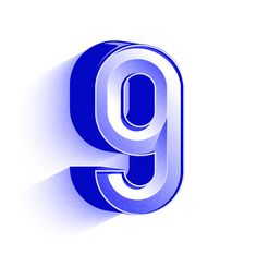 number 9 /// Blue Series for 36 Days of type #2
