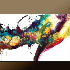 IN PARADISE - NEW Abstract Art on Stretched Canvas in warm jewel tones, by Destiny Womack , from wostudios, $149.00