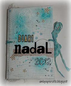 Diario de Navidad 2012 (Fin) Scrapbook Journal, December Daily, Smash Book, Junk Journal, My Works, Mini Albums, Journals, Bullet, Christmas