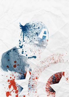 Super Heroes Painted: Captain America Art Print by Arian Noveir | Society6