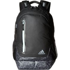 adidas Breakaway Backpack (Black/Splatter/Ice Green) Backpack Bags ($56) ❤ liked…