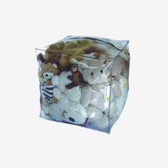 Pouf Dékocube transparent peluches