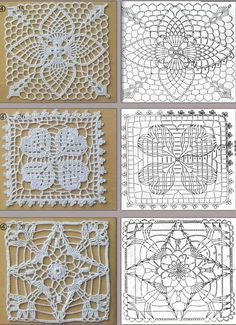 crochet pinapple, clover and star motifs!