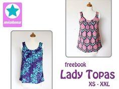 Freebook Lady Topas - Sommertop - Nähtalente