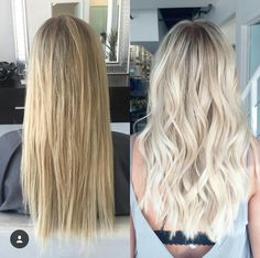 """Darker roots and really blonde overall looks great! I want a bright blonde that ., Summer Hairstyles, """" Darker roots and really blonde overall looks great! I want a bright blonde that isn't yellow at all Source by Bright Blonde Hair, Beauté Blonde, Blonde Hair Looks, Blonde Color, Blonde Hair No Highlights, Darker Roots Blonde Hair, Hair Shades, Balayage Hair, Light Blonde Balayage"""