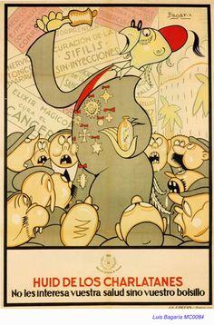 Spain - 1936. - GC - poster - autor: Luis Bagaría