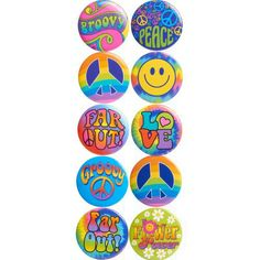 Feeling Groovy Buttons 10ct, $3.99