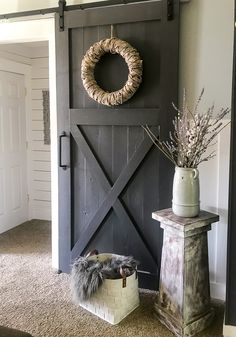An easy and thorough step-by-step tutorial on how to make a sliding barn door. Barn doors make a statement in any room and become the decor. How to Make Your Own Sliding Barn Door - Repurpose Life Diy Barn Door Hardware, Diy Sliding Barn Door, Sliding Doors, Diy Barn Door Plans, Front Doors, Closet Barn Doors, Bedroom Barn Door, Barn Door Decor, Barn Door Pantry