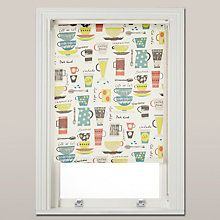 Buy John Lewis Coffee Cups Daylight Roller Blind, Multi Online at johnlewis.com