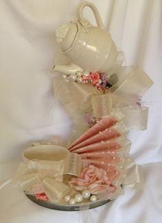 Wedding Centerpiece -Teacup Centerpiece - Wedding Centerpiece - Floating Teapot…