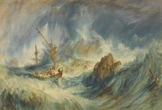 William Turner, A Storm (Shipwreck) 1823 The shipwreck I catch m. Turner Watercolors, Eros And Psyche, Turner Painting, Joseph Mallord William Turner, English Artists, Watercolour Painting, Impressionism, Modern Art, Illustration Art