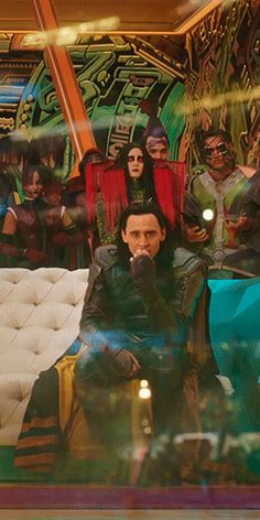 Loki's face when Thor has to fight the Hulk: because he knows the pain of being Hulk smashed into the floor