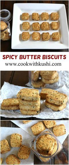 SPICY BUTTER BISCUITS / SAVORY COOKIES