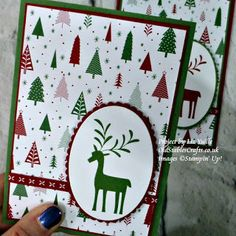 Merry Mistletoe Be Merry Quick Christmas card stampin up