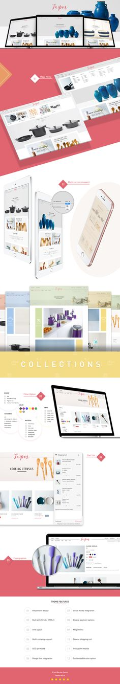 The Jaipur Shopify Theme by HulkThemes is Perfect for Kitchenware & Appliance Stores. Modern design and a clear organization of content. Sure to impress your customers. You can see the live version here and purchase it: https://www.hulkthemes.com/collections/themes/products/jaipur