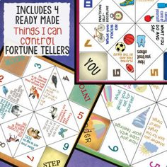 Top 50 THINGS I CAN CONTROL Fortune Tellers: School Counse