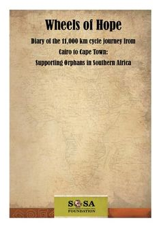 SOSA Support and our hero Shayne Rookhuyzen are looking to launch the Wheels of Hope ebook / printed version to raise much needed donations. Could you help us help the children?