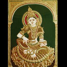 Tanjore Painting of Annapoorneshwari.