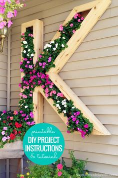 DIY Monogram Letter Planter Box Woodworking Plans and Building Instructions via shop.Remodelaholic.com