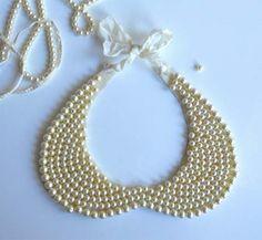 Collar babero de perlas