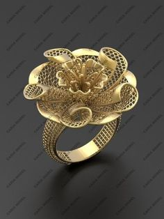 Ultra vision Ring STL model for printing 0015 model printable STL Antique Jewellery Designs, Gold Ring Designs, Gold Earrings Designs, Necklace Designs, Jewelry Design, Men's Jewelry Rings, Hand Jewelry, Jewelery, 3d Prints
