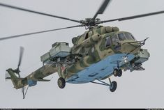 Military and Commercial Technology: Mi-8AMTSh possible EW or SIGINT variant spotted