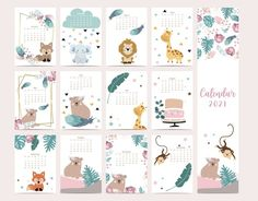 Creative Calendar, Cute Calendar, Print Calendar, Wall Calendar Design, Calendar Design Template, Unicornios Wallpaper, Theme Mickey, New Year Designs, Agenda Planner