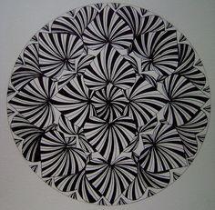 Drawn onto watercolour paper.