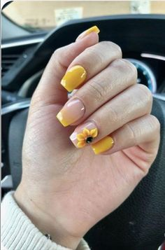 60 Yellow Nails in Stiletto Almond Square and Coffin Shapes - The First-Hand Fashion News for Females Bright Summer Nails, Cute Summer Nails, Cute Nails, Pretty Nails, Pink Summer, Yellow Nails, Pink Nails, Gel Nails, Acrylic Nails