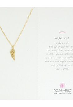 Dogeared Angel Love Open Wing Pendant Necklace (Gold Dipped) Necklace - Dogeared, Angel Love Open Wing Pendant Necklace, VG2590-962, Jewelry Necklace General, Necklace, Necklace, Jewelry, Gift, - Fashion Ideas To Inspire