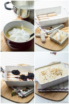 Pour changer du traditionnel tiramisu au café, je vous propose une version plus fruitée avec des myrtilles!