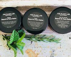 Beard Balm & Face Balm in One. Unscented Available. Gift For Him Green Tea Bath, Beard Balm, Facial Treatment, Healthy Beauty, Face Oil, Moisturiser, Pure Essential Oils, Natural Skin Care, Bath And Body