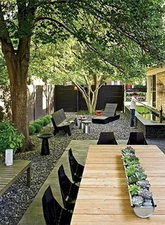 Backyard dining :)