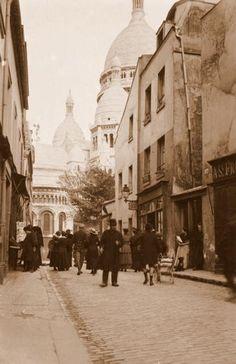 Montmartre Paris circa 1900 Charles Augustin Lhermitte