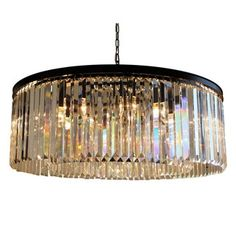 Shop for D'Angelo 12-Light Round Fringe Clear Crystal Chandelier. Get free shipping at Overstock.com - Your Online Home Decor Outlet Store! Get 5% in rewards with Club O!