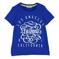 Boys Blue T-Shirt with White California Logo. Now available at www.chocolateclothing.co.uk