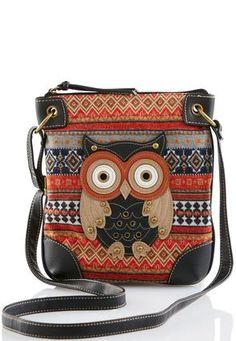 Cato Fashions Owl Tapestry Crossbody #CatoFashions
