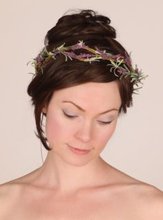 Lavender Fields Hair Wreath by Sweet Little Sparrow