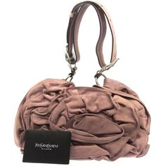 Pre-owned Saint Laurent Yves Nadja Rose Suede Italy Shoulder Bag ($299) ❤ liked on Polyvore featuring bags, handbags, shoulder bags, pinks, pre owned handbags, rose handbag, yves saint laurent handbags, white purse and pre owned purses